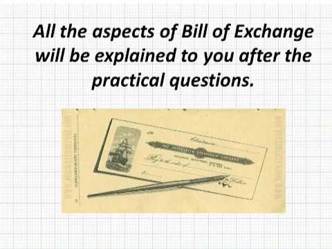 Bills of Exchange - Episode 1