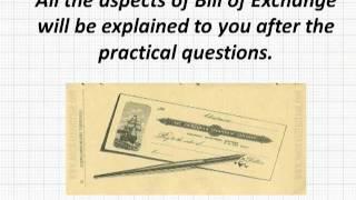Bills of Exchange - Episode 1