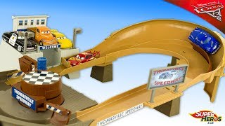 Disney Cars Piste Thomasville Flash McQueen Smokey Jouets Toy Review