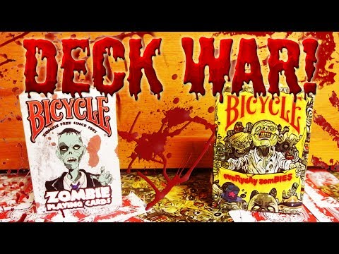 Deck War - Bicycle Zombies VS Bicycle Everyday Zombies