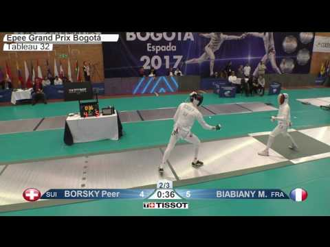 FE M E Individual Bogota COL Grand Prix 2017 T32 06 green BORSKY SUI vs BIABIANY FRA