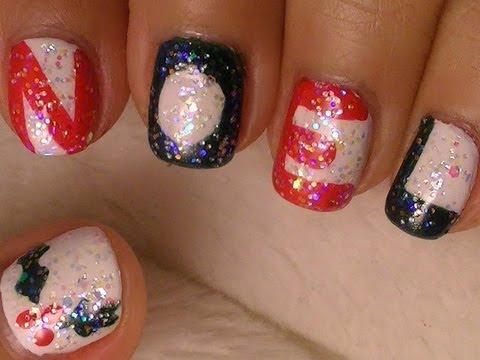 Christmas nail art simple noel design youtube christmas nail art simple noel design prinsesfo Gallery