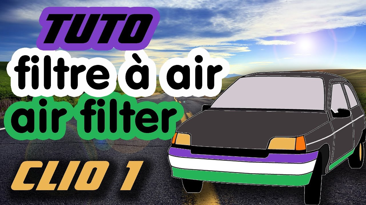 tuto comment changer filtre air clio 1 how to change air filter hd youtube. Black Bedroom Furniture Sets. Home Design Ideas