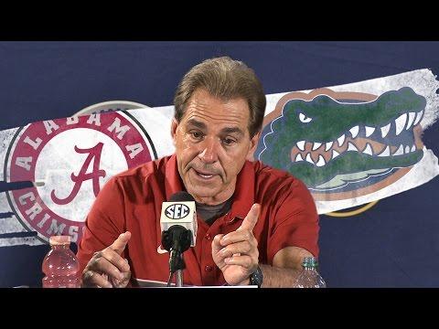 Hear what Saban said after Alabama's third straight SEC Championship