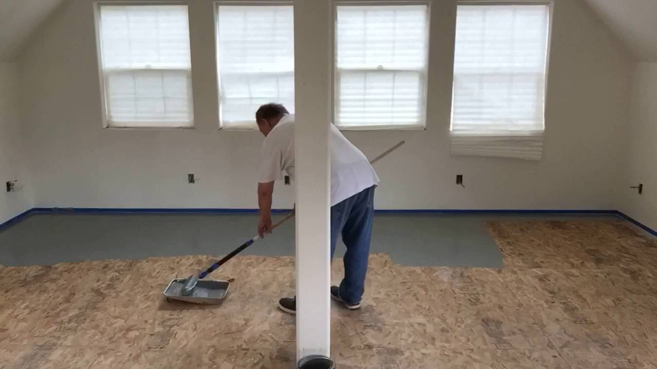 Painting The Floor Gray Part One Youtube