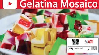 gelatina de mosaico vicky receta fácil