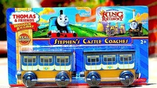 New 2013 Thomas Wooden Toy Trains - Stephen's Castle Coaches - King Of The Railway Movie!