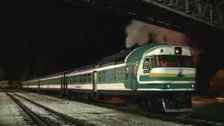 Запуск дизеля і димне відправлення дизель-поїзда ДР1А-312 / Engine start and departure of DR1A-312