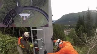 Skycrane Aft Seat Lift Work
