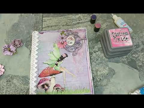 DIY Shabby Chic Altered Diary Cover
