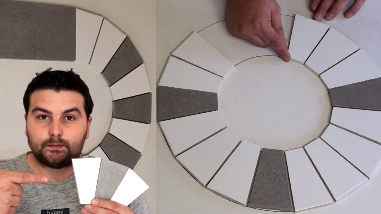 Comment Couper Du Carrelage En Arrondi how to lay rounded tile (the claveaux)