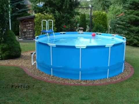 Pool bestway steel pro frame pool 366 x 122 youtube for Pool 300 x 120