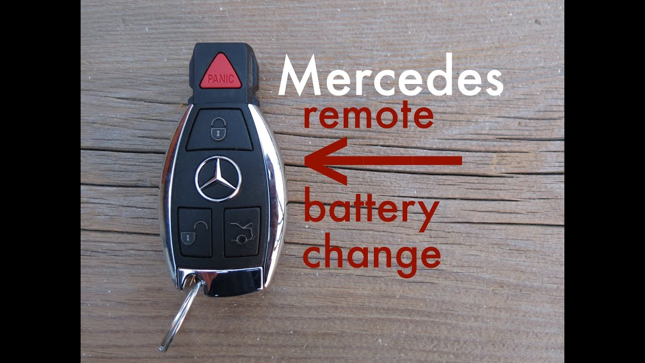 how to mercedes key fob remote keyless battery change
