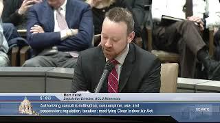 3/11/19 Ben Feist, ACLU Minnesota, testifies in support of SF 619