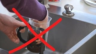 Smarter way to clean a French Press Coffee Maker