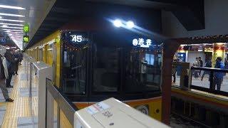 ホーム柵が付いた東京メトロ銀座線 浅草駅