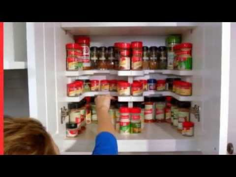 Edenware Spice Rack And Stackable Shelf Mesmerizing Masterpiece Spicy Shelf Patented Stackable Organizer YouTube
