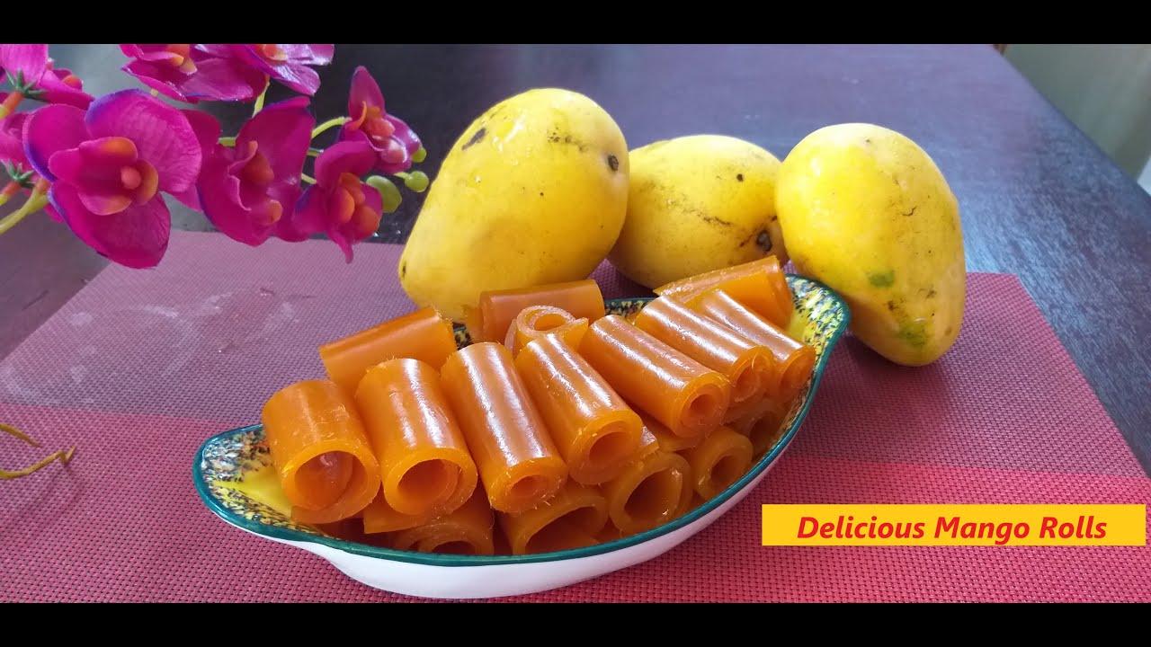 Delicious Mango Rolls With Quick Recipe Please Check Description Box For Recipe Details