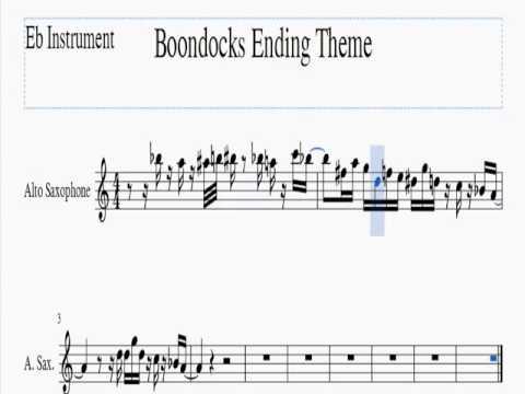 Boondocks Ending Theme   Eb Instrument