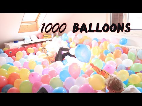 Filling room up with 1'000 Balloons!!!