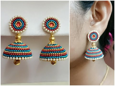 Easy Bridal Jhumkas Making - Using Ball Chain || Available For Sale at  www.beautyinustores.com ||