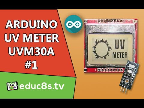 Arduino Project: UV Meter Using Arduino Uno UVM 30A Ultraviolet Sensor and a Nokia 5110 lcd tutorial