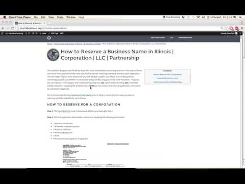 How to Reserve a Business Name in Illinois | Corporation | LLC | Partnership