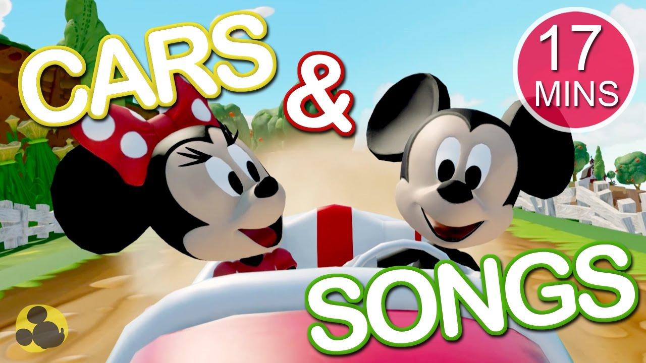 Lagu Anak Dan Mobil BERMAIN BERSAMA MICKEY MOUSE Kartun Kumpulan