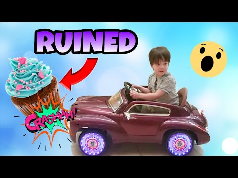 CRUISING IN FANCY REMOTE CONTROL CARS AND RUINING CUPCAKES