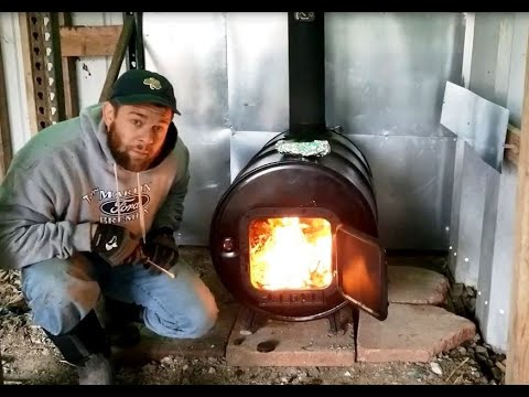 a-cheap-way-to-heat-a-barn!---barrel-stove-and-chimney-pipe