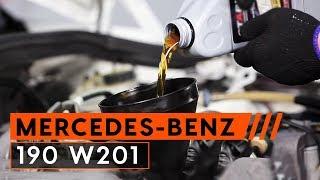 Ako vymeniť olej a olejový filter na MERCEDES BENZ 190 W201 [NÁVOD]