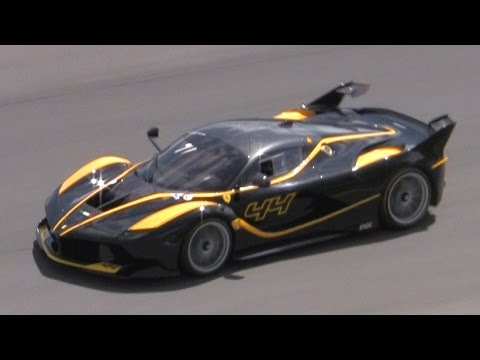 Ferrari FXX K IN ACTION on Track! GREAT SOUNDS!