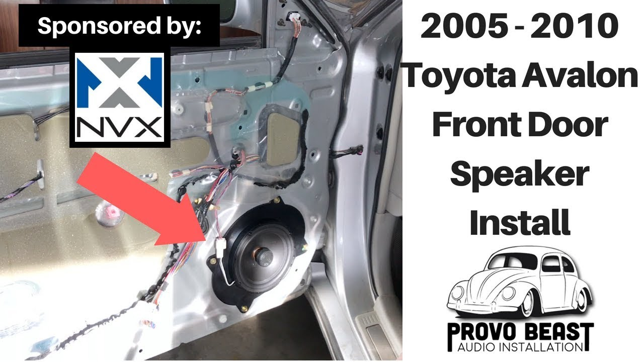 2005 2010 Toyota Avalon Front Door Speaker Install Youtube