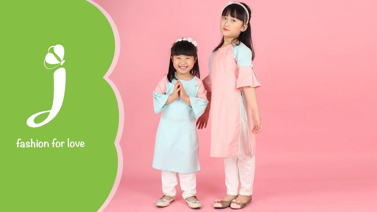 Áo dài đẹp cho bé gái ADG017 Jadiny