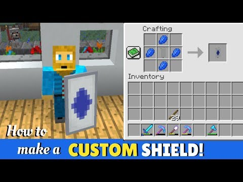 How To Make A Custom Minecraft Shield Youtube