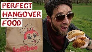 Best London Hangover Day   Jolibees Filipino Fast Food Taste Test   England Road Trip Travel Vlog 20