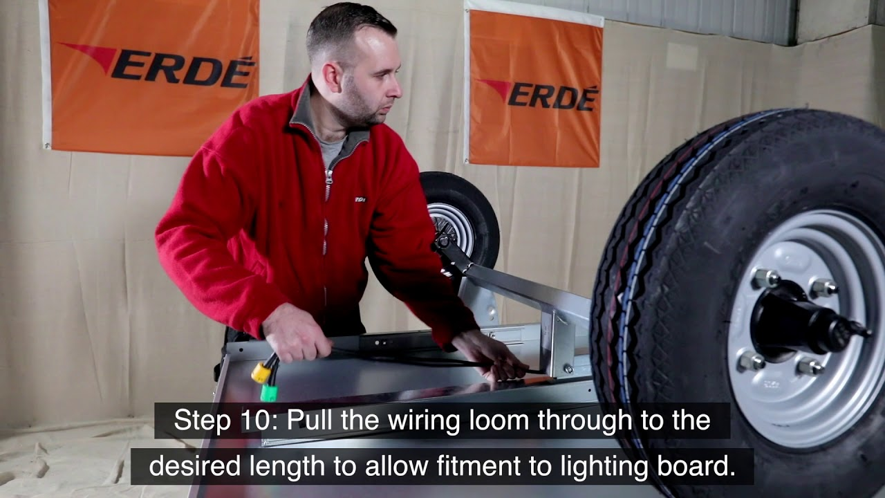 How to emble the ERDE 102.2 Clic Box Trailer - YouTube Wiring Diagram For Erde Trailer on