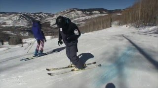 How to slide boxes and rails on snow skis; Beginner to Intermediate