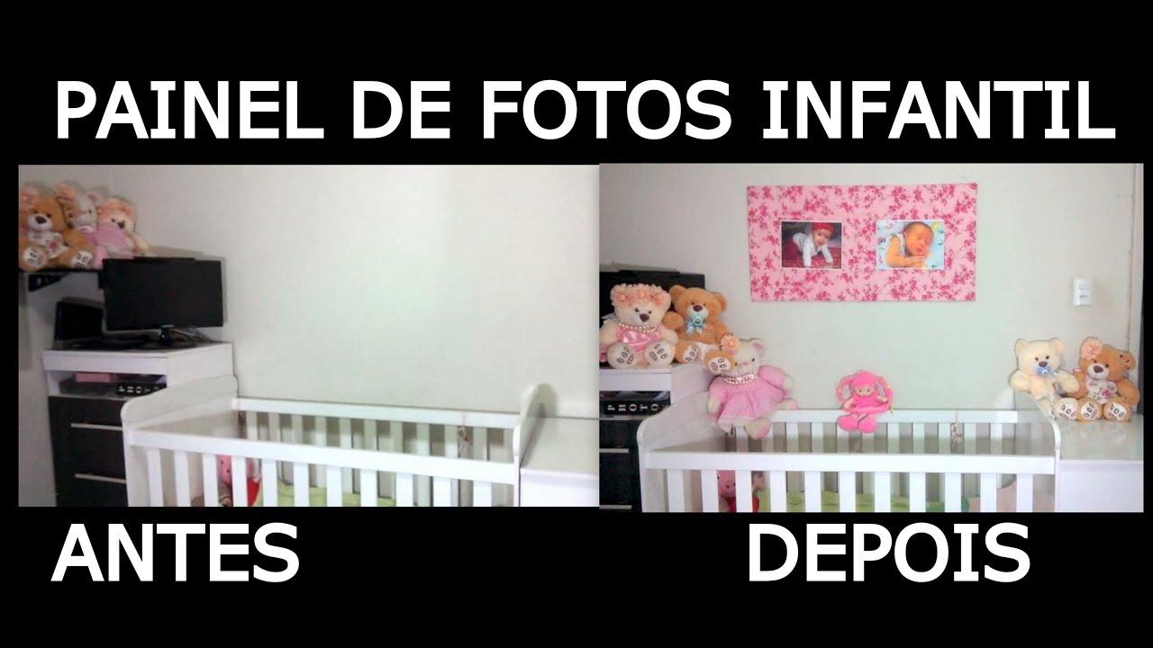 quarto infantil : COMO FAZER PAINEL DE FOTOS PARA QUARTO INFANTIL - YouTube
