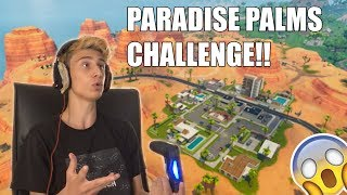 JEG LANDER I PARADISE PALMS CHALLENGE?! 😱🔥 FORTNITE SESONG 5 (BATTLE ROYALE)