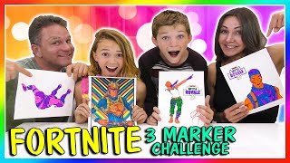 FORTNITE 3 MARKER CHALLENGE | We Are The Davises