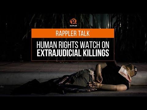 Rappler Talk: Human Rights Watch on extrajudicial killings