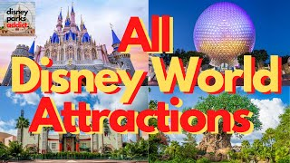 Walt Disney World ATTRACTION GUIDE - All Rides in All Four Parks - 2021 - Orlando, Florida
