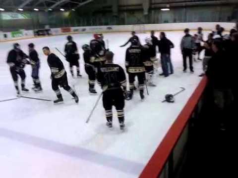 Bauer vs Lokomotiv fight in Youth tournament Riga