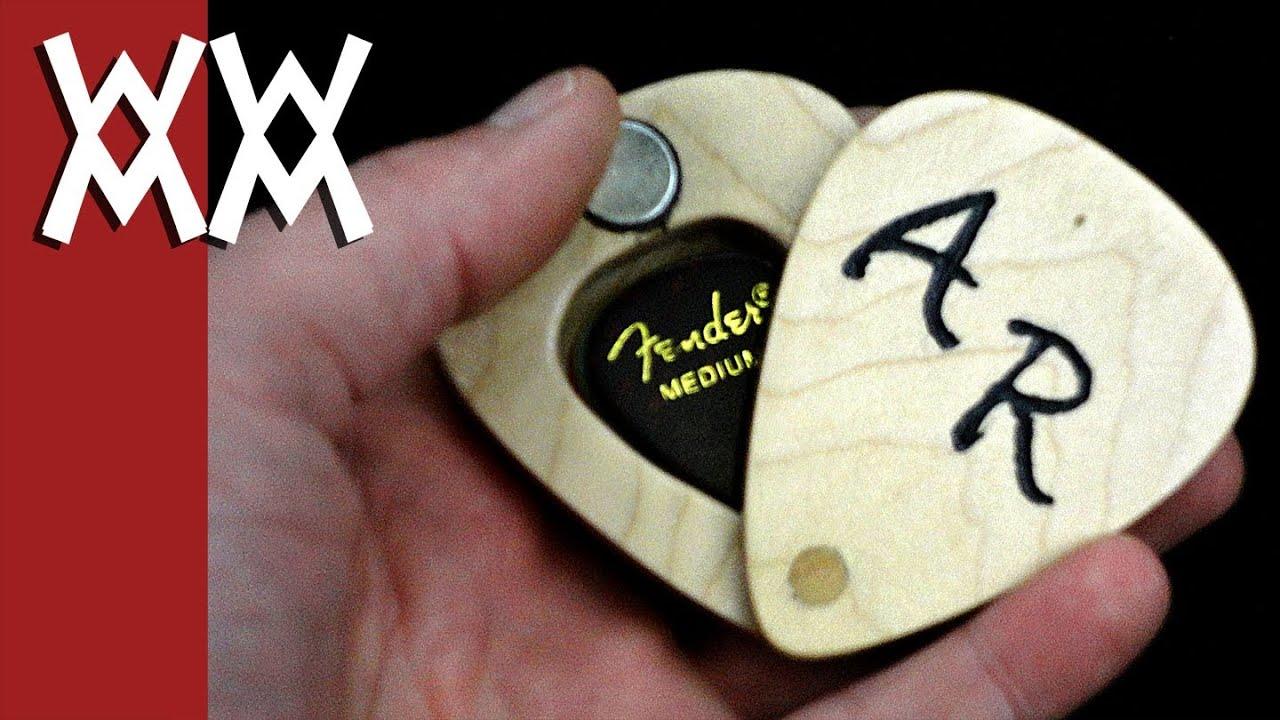 swivel lid guitar pick box youtube. Black Bedroom Furniture Sets. Home Design Ideas