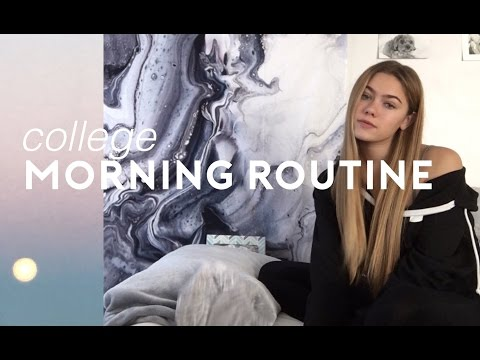 college morning routine & how i do my hair