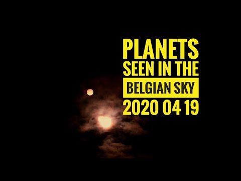 Believe It Or Not Planets Seen In The Belgian Sky.  Mars Saturn Jupiter 2020 04 19