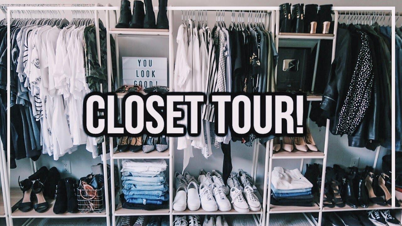 CLOSET ROOM TOUR! 2018 | Huge Walk In Closet