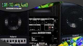 ROLAND CM-30 CUBE MONITOR unboxing & review