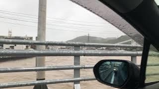 2018年7月6日 北九州市小倉南区 紫川 大雨・豪雨状況 九州北部豪雨②